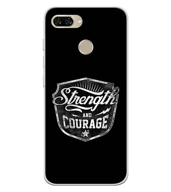 Strength and Courage Soft Silicone Back Cover for Gionee S11 lite