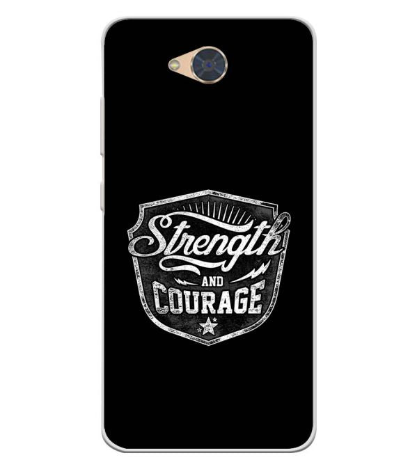 Strength and Courage Soft Silicone Back Cover for Gionee S6Pro