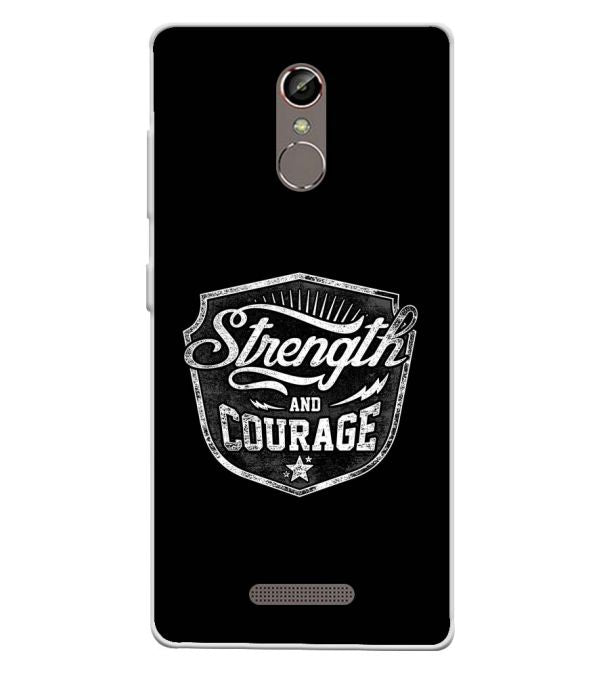 Strength and Courage Soft Silicone Back Cover for Gionee S6s