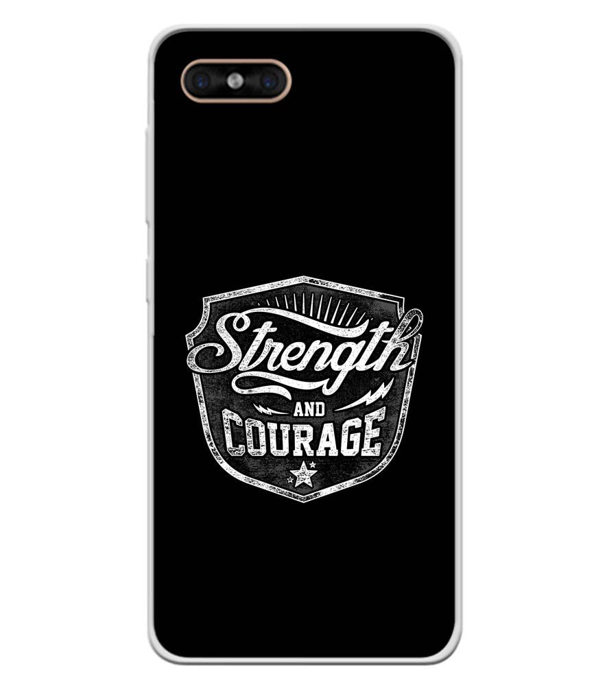 Strength and Courage Soft Silicone Back Cover for Gome C7
