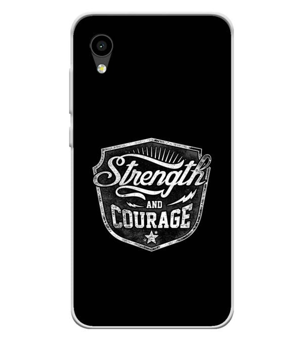 Strength and Courage Soft Silicone Back Cover for Intex Aqua 4G Mini