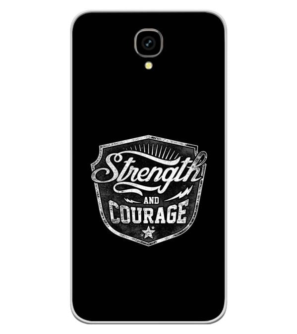 Strength and Courage Soft Silicone Back Cover for Intex Aqua Lions T1 Lite