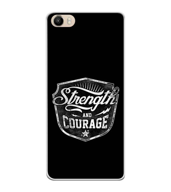 Strength and Courage Soft Silicone Back Cover for Itel PowerPro P41