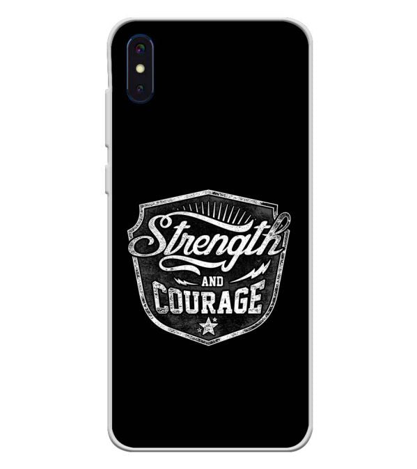 Strength and Courage Soft Silicone Back Cover for iVoomi i2