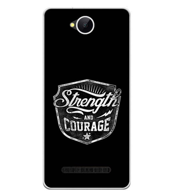 Strength and Courage Soft Silicone Back Cover for Karbonn A45 Indian
