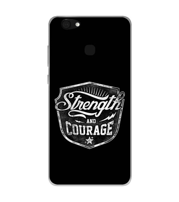 Strength and Courage Soft Silicone Back Cover for Kult Gladiator