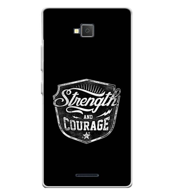 Strength and Courage Soft Silicone Back Cover for Lava A82