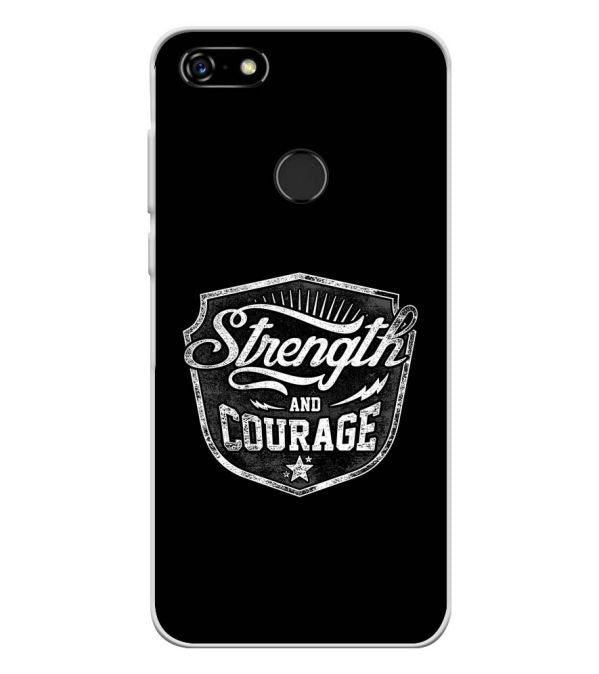 Strength and Courage Soft Silicone Back Cover for Lenovo A5