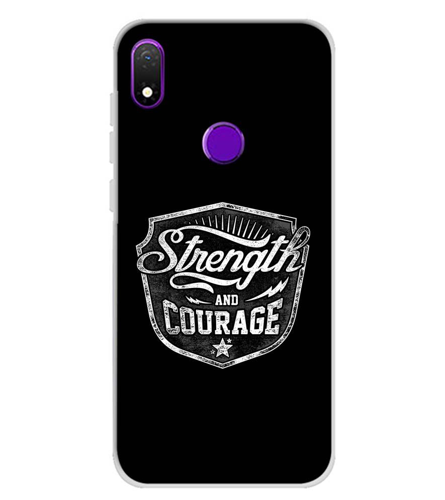 Strength and Courage Soft Silicone Back Cover for Mobiistar X1 Notch