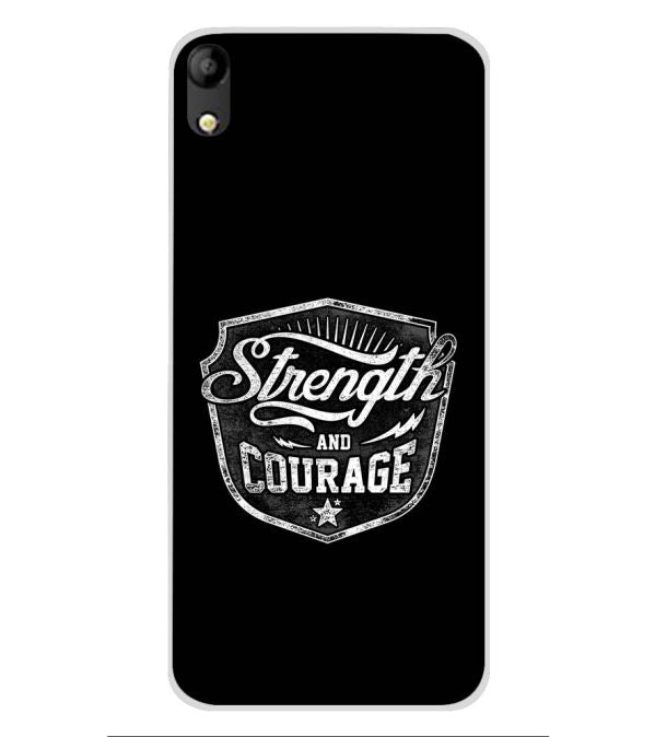 Strength and Courage Soft Silicone Back Cover for Mobistar C1