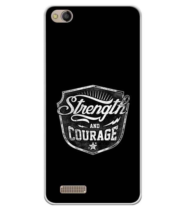 Strength and Courage Soft Silicone Back Cover for Mobistar CQ Dual