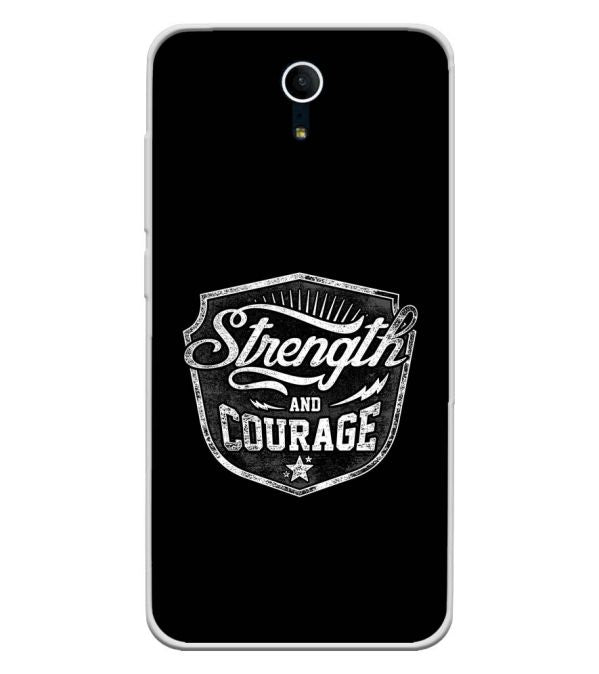Strength and Courage Soft Silicone Back Cover for Swipe Elite Plus
