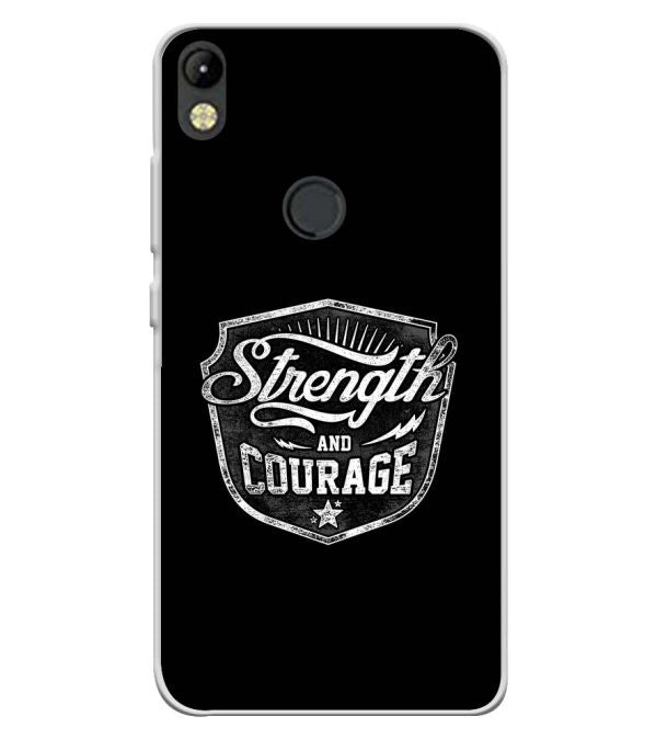 Strength and Courage Soft Silicone Back Cover for Tecno Camon I
