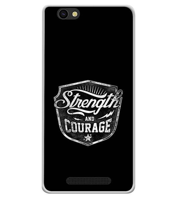 Strength and Courage Soft Silicone Back Cover for Xolo ERA X