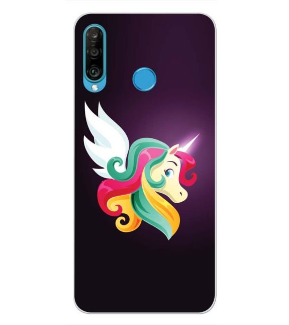 Stylish Unicorn Back Cover for Huawei P30 lite-Image3