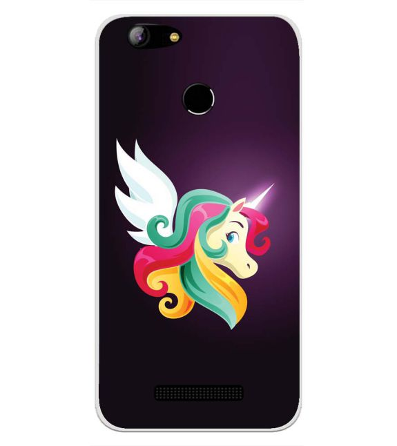 Stylish Unicorn Back Cover for Intex Aqua Lions X1-Image3