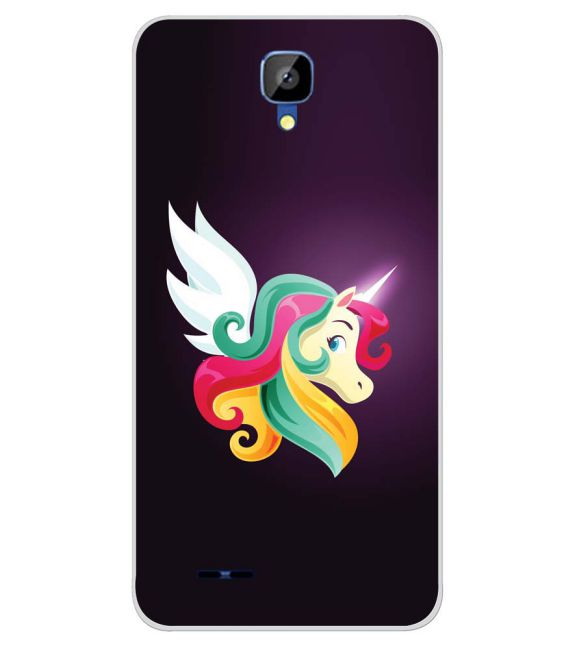 Stylish Unicorn Back Cover for Karbonn Aura Champ-Image3