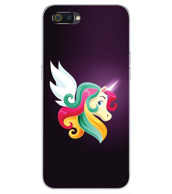Stylish Unicorn Back Cover for Realme C2-Image3