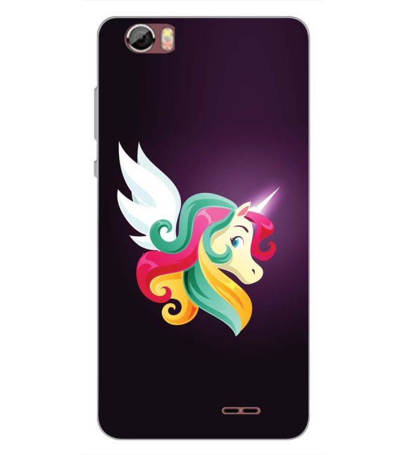 Stylish Unicorn Back Cover for Sansui Horizon 2-Image3