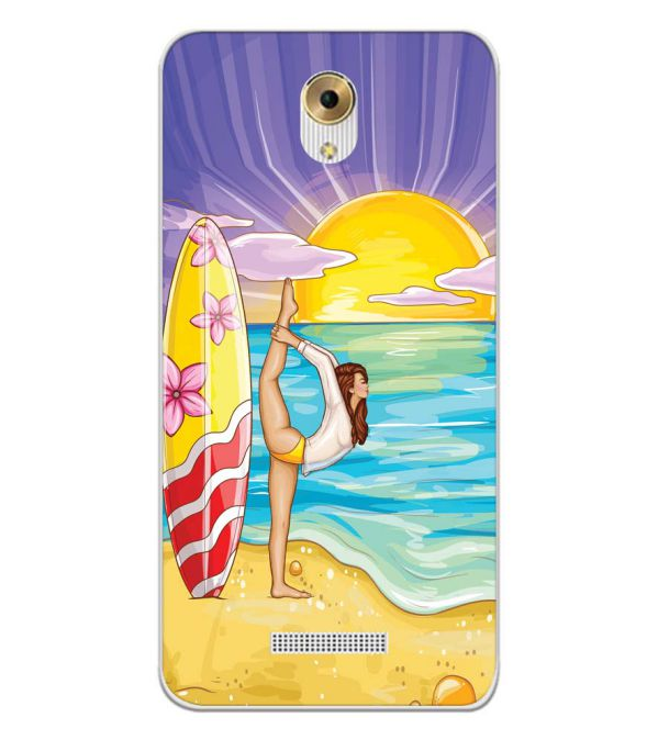 Sunrise with Yoga Back Cover for Coolpad Mega 5M-Image3