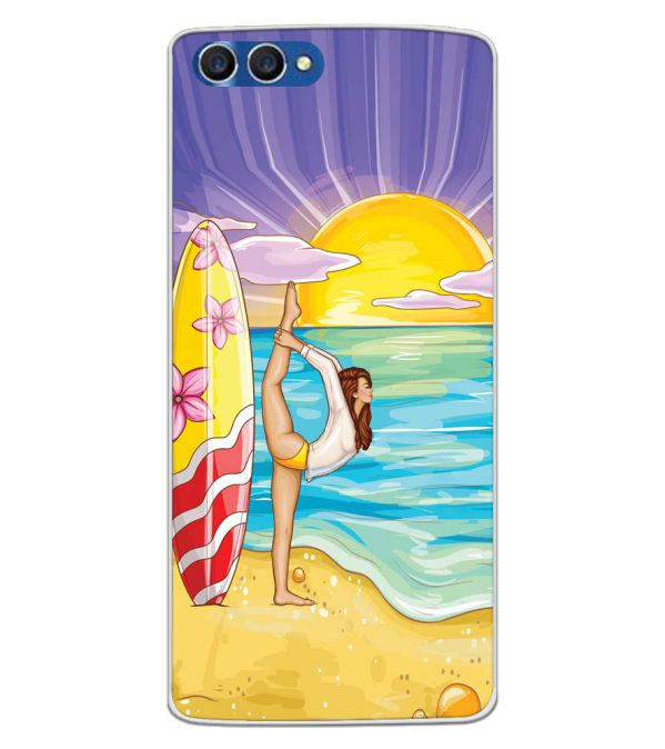 Sunrise with Yoga Back Cover for Homtom H3-Image3