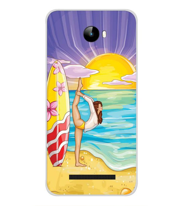 Sunrise with Yoga Back Cover for Intex Staari 11-Image3
