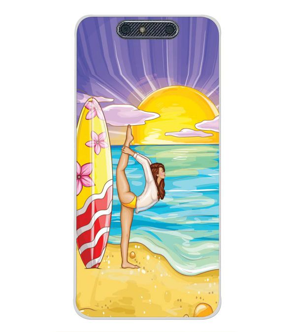 Sunrise with Yoga Back Cover for Micromax Dual 4 E4816-Image3