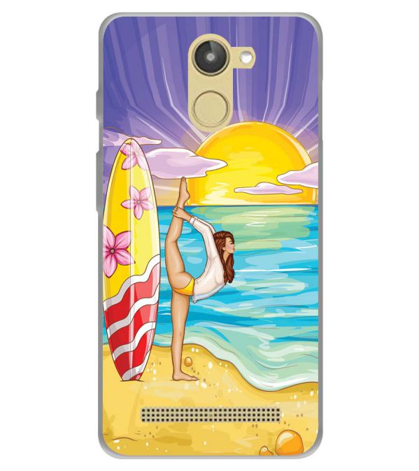 Sunrise with Yoga Soft Silicone Back Cover for 10.or D (Tenor D)