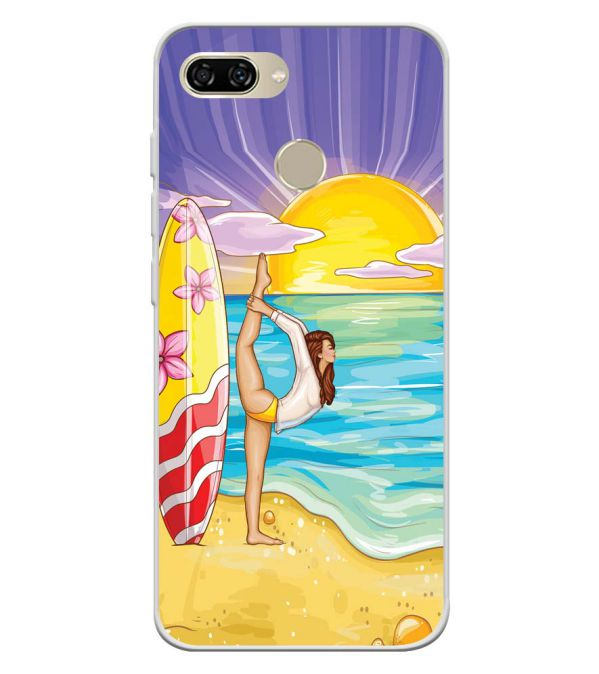 Sunrise with Yoga Soft Silicone Back Cover for Gionee S11 lite