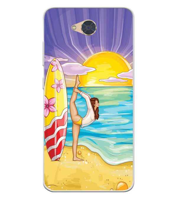 Sunrise with Yoga Soft Silicone Back Cover for Gionee S6Pro