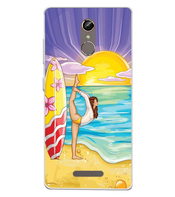 Sunrise with Yoga Soft Silicone Back Cover for Gionee S6s