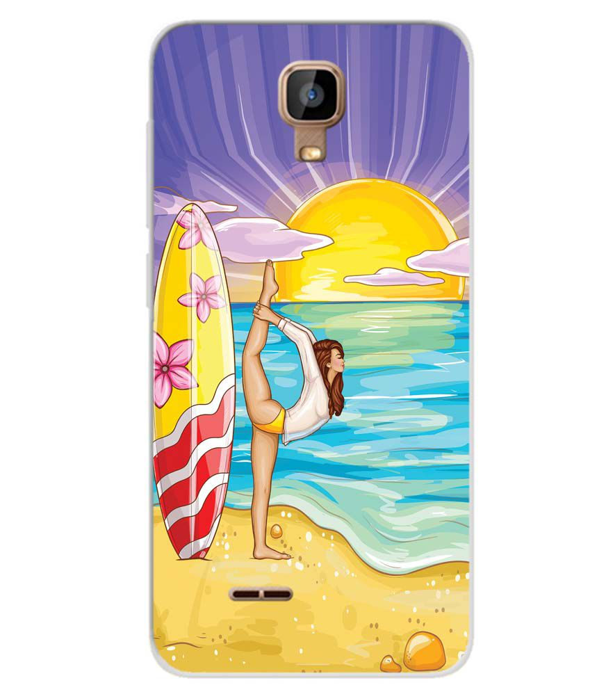 huge selection of abe1c ce584 Sunrise with Yoga Soft Silicone Back Cover for Karbonn A9 Indian