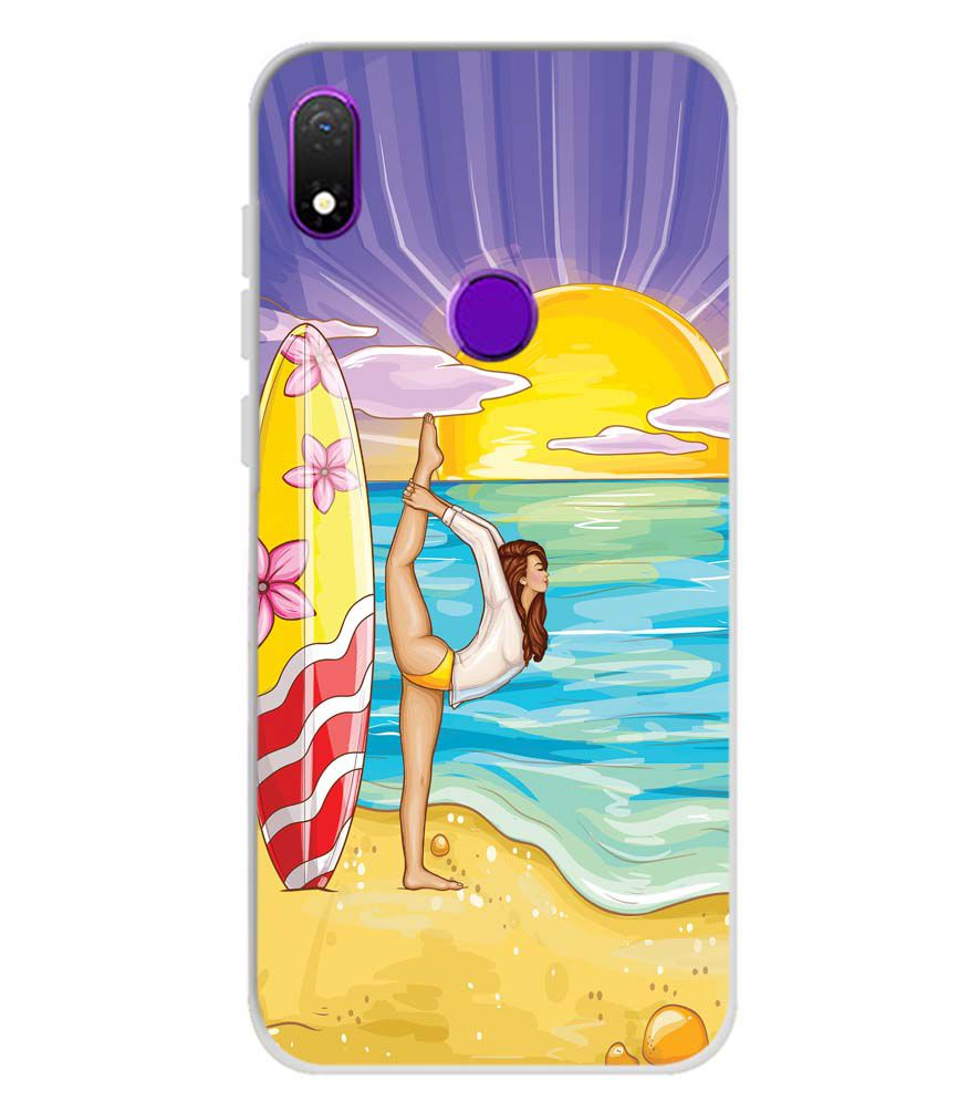 Sunrise with Yoga Soft Silicone Back Cover for Mobiistar X1 Notch