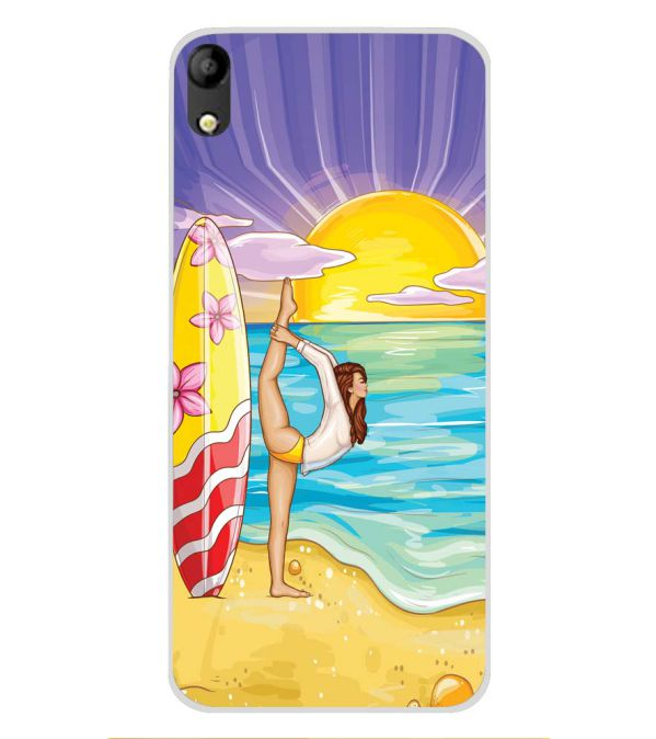 Sunrise with Yoga Soft Silicone Back Cover for Mobistar C1