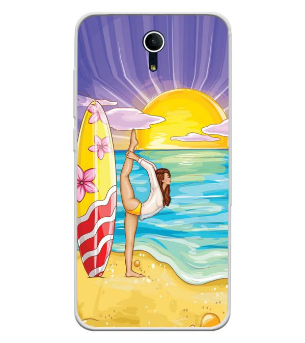Sunrise with Yoga Soft Silicone Back Cover for Swipe Elite Plus