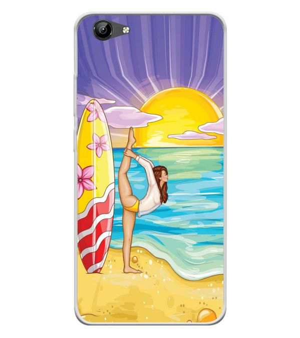 Sunrise with Yoga Soft Silicone Back Cover for Vivo Y71i