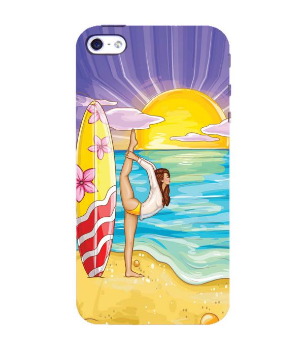 Sunrise with Yoga Back Cover for Apple iPhone 4 : 4S