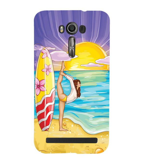 Sunrise with Yoga Back Cover for Asus Zenfone 2 Laser ZE550KL