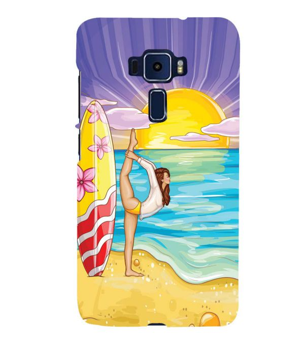 Sunrise with Yoga Back Cover for Asus Zenfone 3 Deluxe ZS570KL