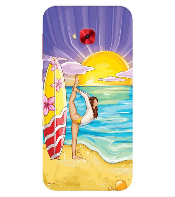 Sunrise with Yoga Back Cover for Asus Zenfone 4 Selfie