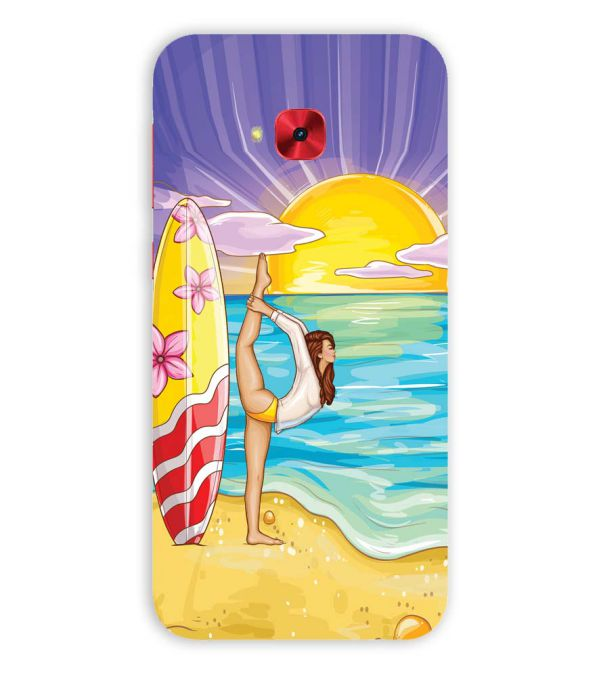 Sunrise with Yoga Back Cover for Asus Zenfone 4 Selfie Pro ZD552KL