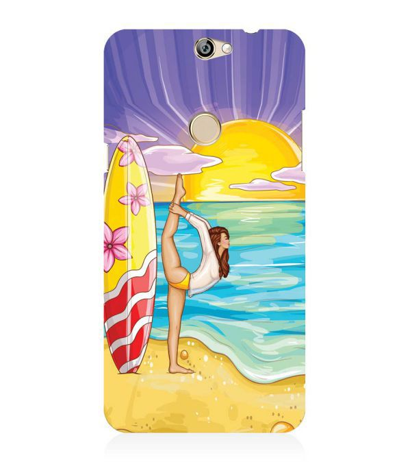 Sunrise with Yoga Back Cover for Coolpad Max