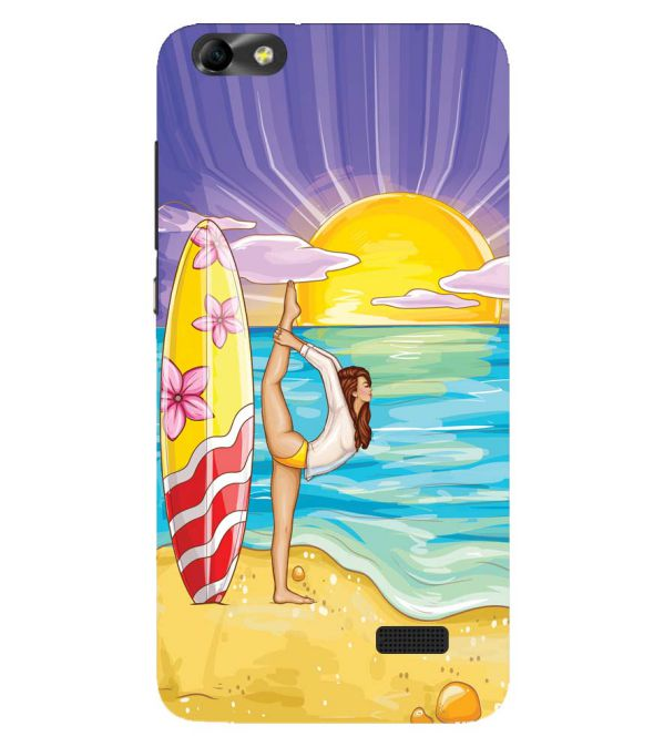 Sunrise with Yoga Back Cover for Huawei Honor 4C