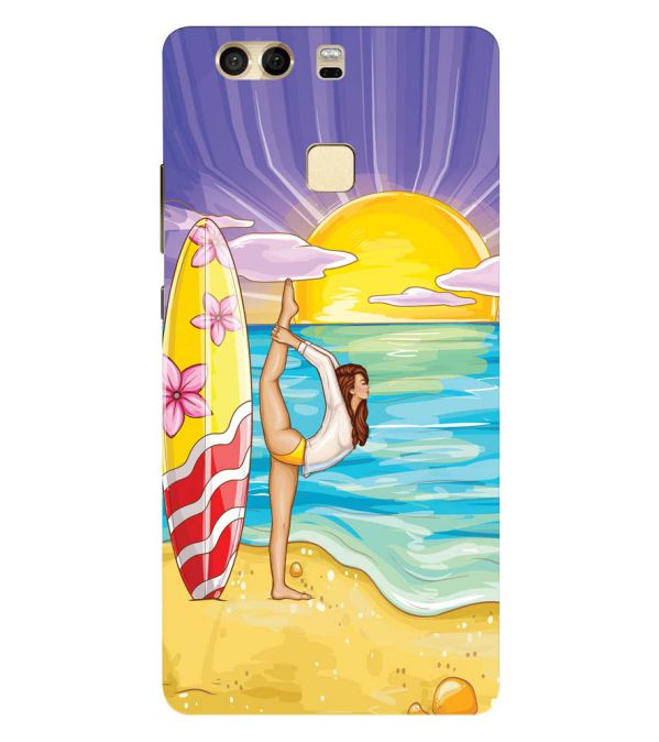 Sunrise with Yoga Back Cover for Huawei P9