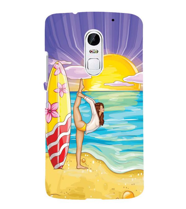 Sunrise with Yoga Back Cover for Lenovo Vibe X3
