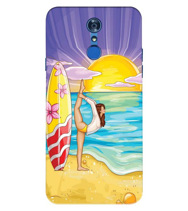 Sunrise with Yoga Back Cover for LG Q7