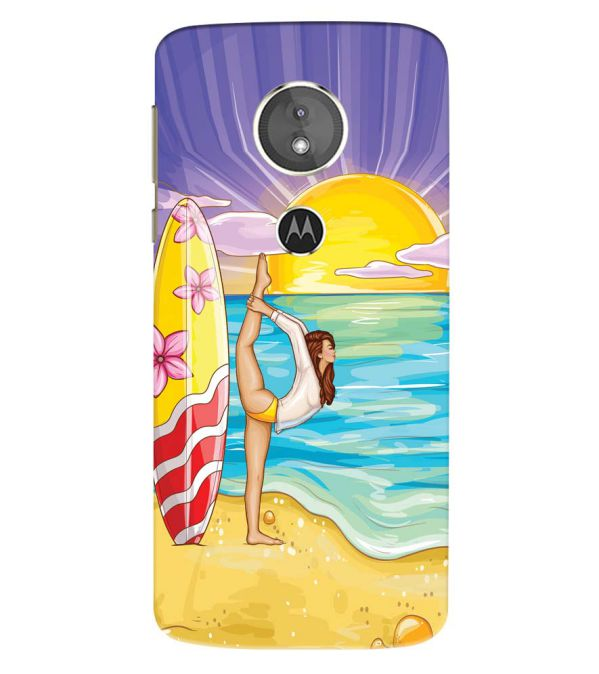 Sunrise with Yoga Back Cover for Motorola Moto E5 Play