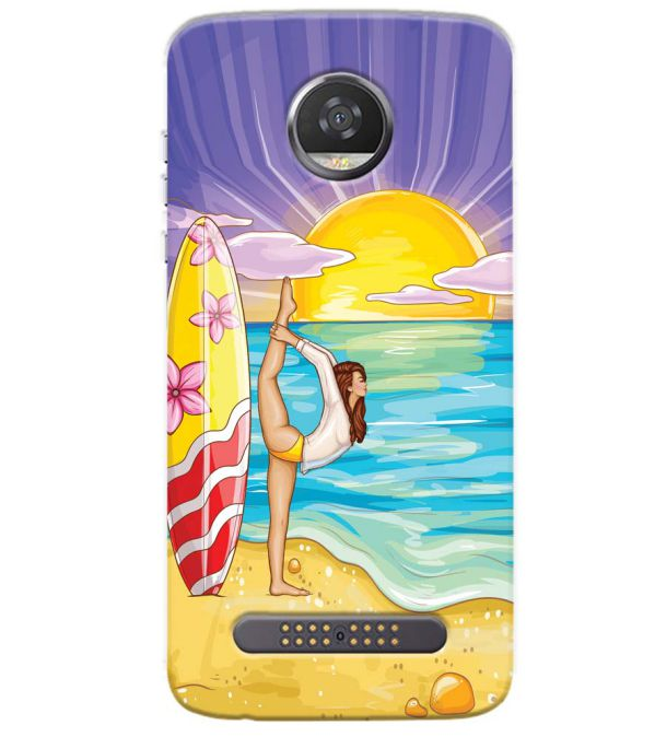 Sunrise with Yoga Back Cover for Motorola Moto Z3 Play