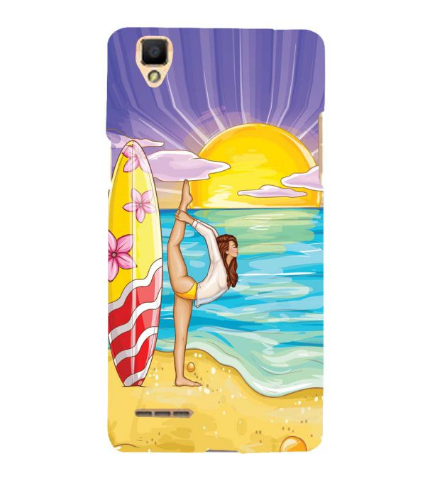 Sunrise with Yoga Back Cover for Oppo F1