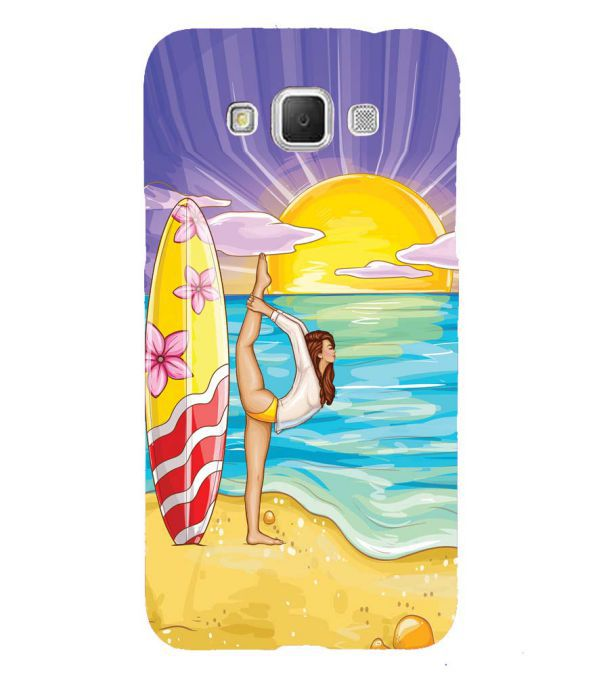 Sunrise with Yoga Back Cover for Samsung Galaxy Grand Max G720